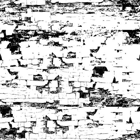 Vector old painted wood seamless texture. Abstract grunge black and white vintage background. Trendy monochrome print design.