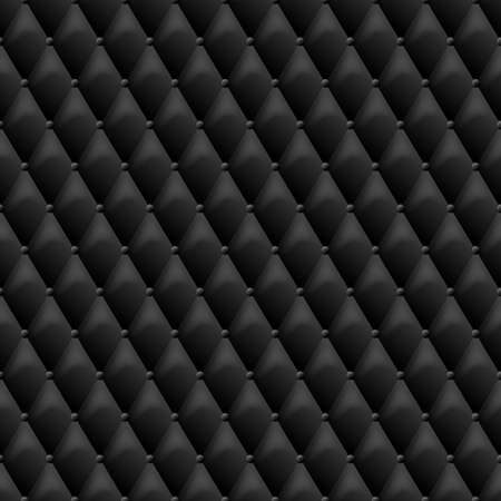 Seamless black leather texture. Vector leather background. Luxury textile design, interior and furniture decoration concept.