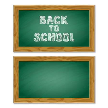 poster backgrounds: Vector school chalkboard isolated on white background. Back to school hand drawn sketch lettering. Design elements for poster, banner backgrounds. Education concept.