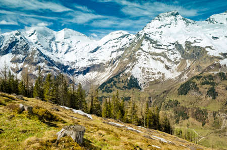 Beautiful view of Alps mountains. Stock Photo