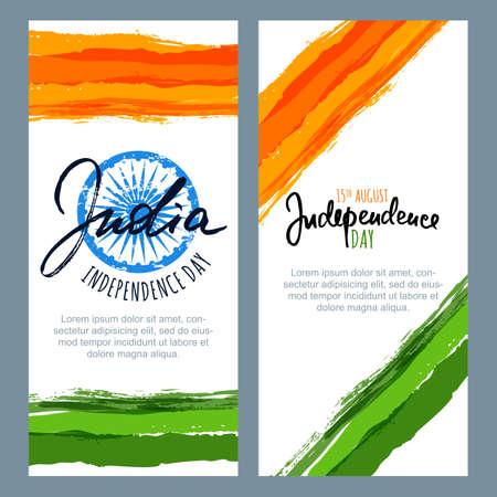 Día De La República De India. La Bandera De La India Colorea Las ...