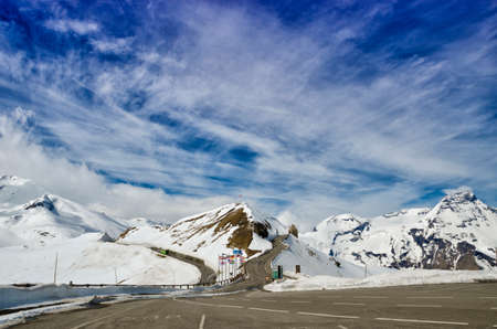 tauern: Beautiful view of Alps mountains. Spring in National Park Hohe Tauern, Austria. Grossglockner high alpine road. Stock Photo