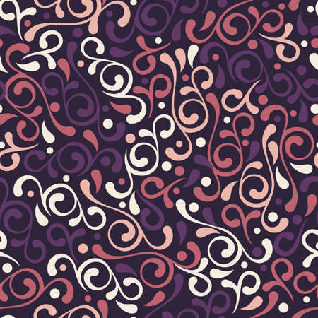 vector backgrounds: Vector seamless purple flourish pattern. Vintage decorative background. Floral design for fashion print, backgrounds, greeting cards, holiday package and wrapping.