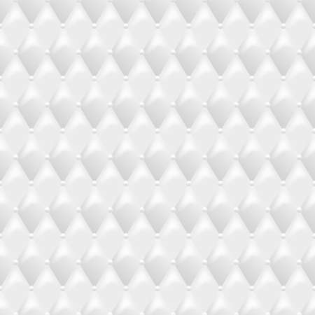 luxury furniture: Seamless white leather texture. Vector leather background. Luxury textile design, interior and furniture decoration concept. Illustration