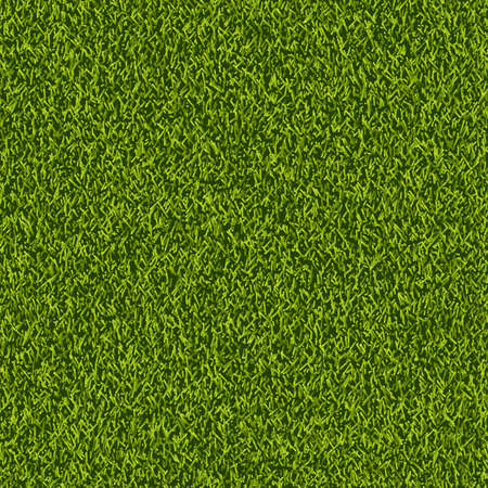 Vector green grass lawn seamless texture. Abstract spring or summer nature background. Field or meadow realistic illustration. Illustration