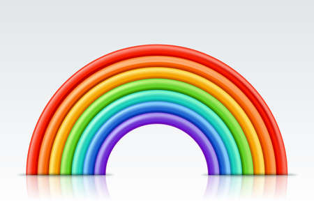 Vector multicolor 3d style illustration of rainbow. Plasticine or clay abstract background or design element. 向量圖像