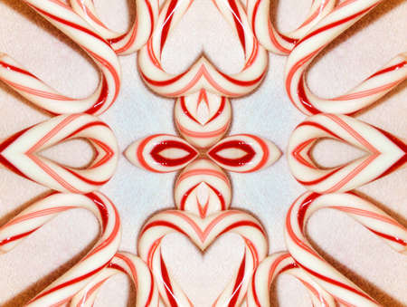 minty: Christmas Candy Canes Stock Photo