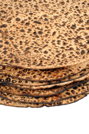matzah: Stack of matzah.
