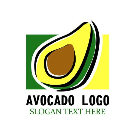 Avocado Logo Design Ideas for Restaurant, Cafe, Food, Logo on White Background