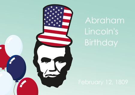 El cumpleaños de Lincoln. 12 de febrero de cumpleaños del presidente Abraham Lincoln. Un día de fiesta nacional en muchos países.