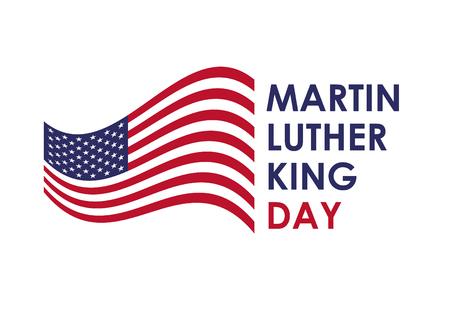Martin Luther King Jr Day. Het grootste strijder voor de mensenrechten van de Afro-Amerikanen in de wereld. Bereikt intrekking van de wet die de Amerikanen verdeeld in wit en zwart. Hij ontving de Nobelprijs voor de Vrede. Vector Illustratie