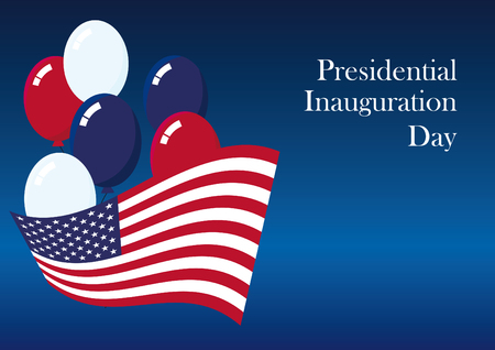 Presidential Inauguration Day. Once every four years to celebrate the inauguration day. Americans celebrate the newly elected US President. January 20 every fourth year. Illustration