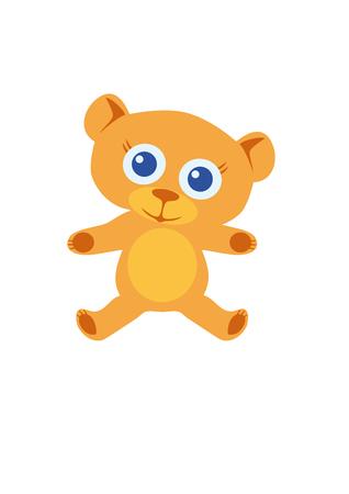 cuddle: Cute teddy bear toy. Cute teddy bear toy. Toy to cuddle. Soft teddy bear with big eyes. Soft orange fur to cuddle. Cute smile and gentle arms. Stuffed toy. Illustration