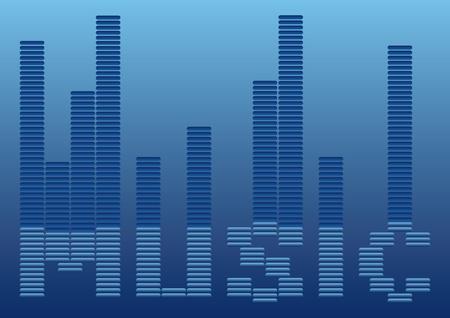music background: Music background. Equalizer background. Music illustration. Blue music