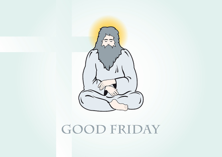 atonement: Good Friday . illustration of God. Religious background. Festive background with a Good Friday