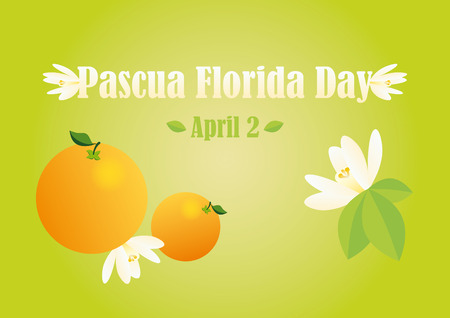 pascua: Pascua Florida Day Vector. Illustrations for Florida feast - Easter flower.
