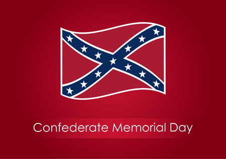 confederation: Confederate Memorial Day. Festive illustration. Background with confederate flag. Public holiday in the USA.