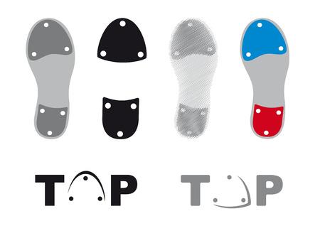 Dotknij ikony buty taneczne Ilustracje wektorowe