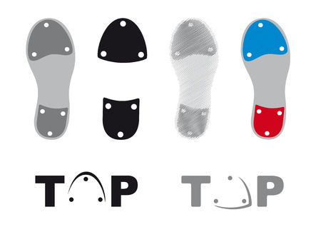 Tap dance shoes icons Stok Fotoğraf - 54616476