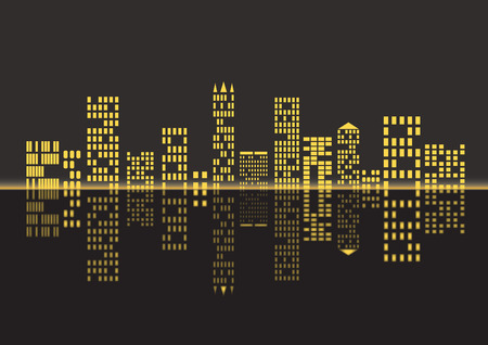 nightlife: Night city background. Illustration of the citys nightlife.