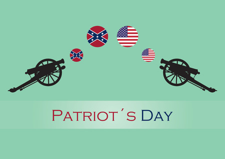 greenish blue: Patriot day illustration Illustration