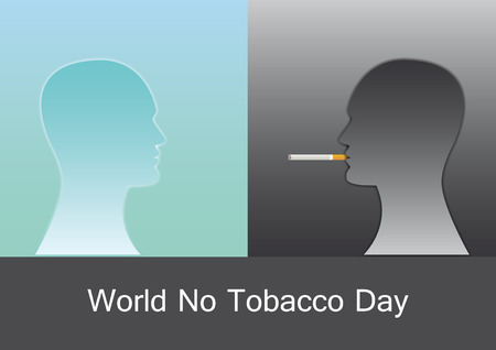 respire: World No Tobacco Day . Illustration harmful effects of smoking