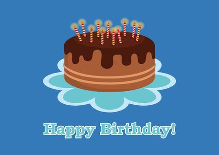 Birthday Card For Boy Birthday Cake For Kids Birthday Illustration