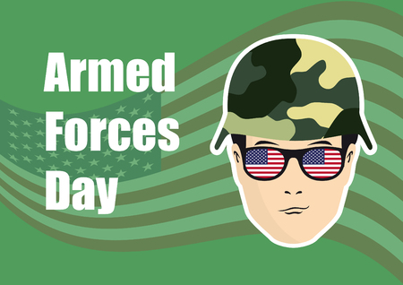 us air force: Armed Forces Day vector. Background with American flag. Festive vector illustration. Soldier on background with American flag