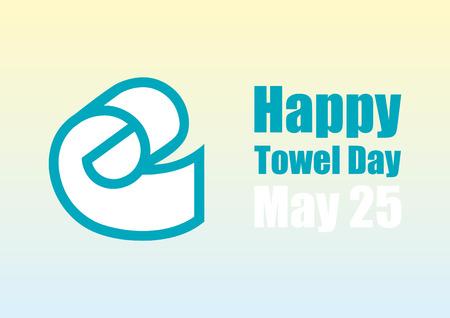 adams: Happy Towel Day vector. Vector illustration on towel day. The memory of Douglas Adams