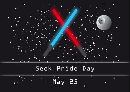 journée de la fierté Geek. illustration Geek Pride Day. Vecteurs
