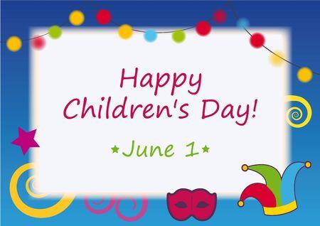 childrens day: Happy Childrens Day. Illustration