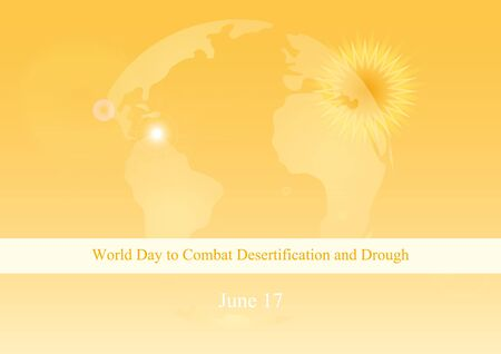 drought: World Day to Combat Desertification and Drought vector. Abstract orange background. Vector illustration