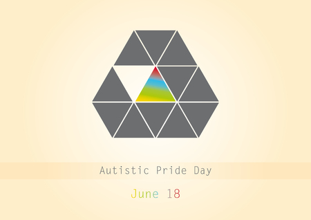 autistic: Autistic pride day vector. Vector illustration of a background for World Autism Day. Important day Illustration