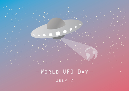 World UFO Day vector. Vector illustration of a spaceship. UFO in space. Important day