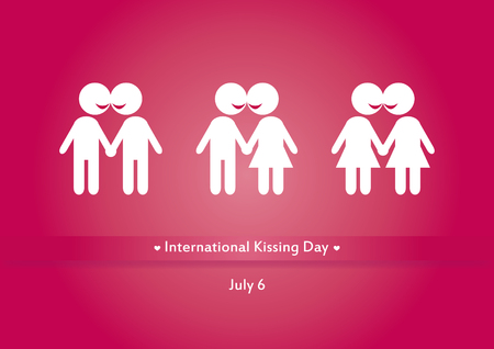 kissing: International Kissing Day vector. Vector illustration the kissing figures. Important day