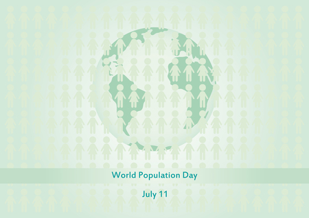 overpopulated: World Population Day vector. Overpopulated planet. Vector illustration. Important day