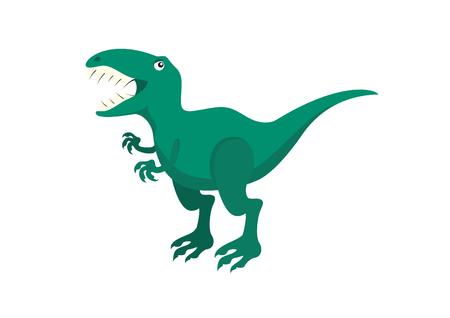 tyrannosaurus rex: Cartoon character Tyrannosaurus rex. T-rex vector. Dinosaur on a white background Illustration
