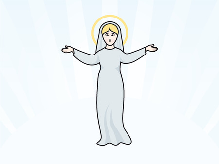 assumption: Virgin Mary illustration holy women