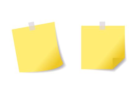 office supply: Yellow sticker. Office supply.