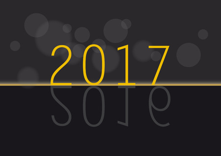 gold numbers: New Year card. Gold numbers on the black background. New Year 2017