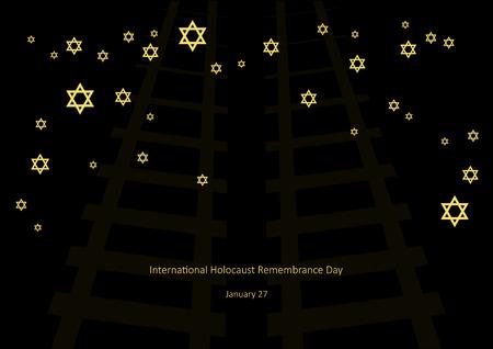 jews: International Holocaust Remembrance Day vector. Vector illustration of Jewish stars. Important day Illustration