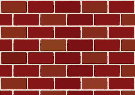 red brick wall: Brick wall vector. Red brick wall background
