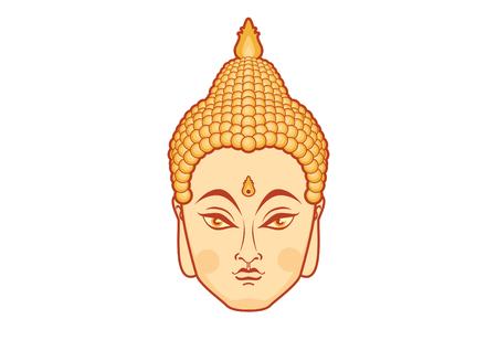Illustration of Buddha face icon.