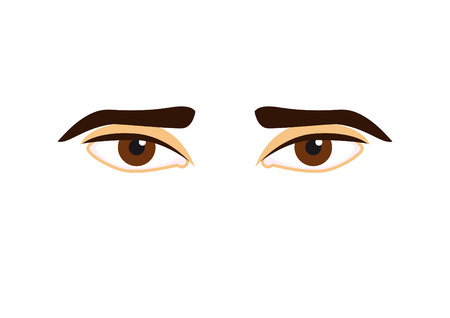 Man eyes vector. Beautiful eyes on a white background