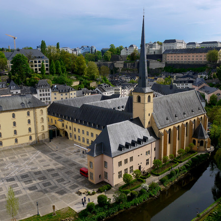 popular: Luxembourg Old town Photo. Luxembourg view of church and Old town Stock Photo