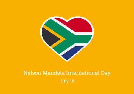 Nelson Mandela International Day vectorillustratie. De vlag van belangrijke dag van Zuid-Afrika Stockfoto - 81576299