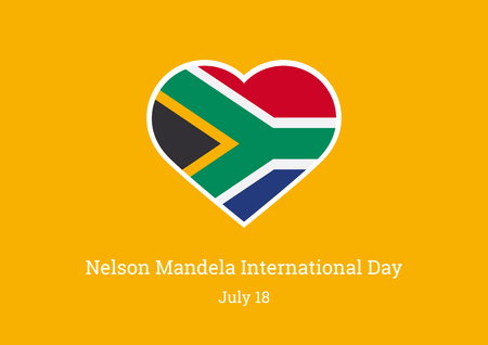 Nelson Mandela International Day vector illustration. The flag of South Africa important day