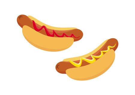 goody: Hot Dog vector image. Hot dog vector icon set. Hot Dog cartoon Illustration