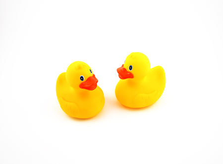Rubber Duck image. Duck on a white background. Yellow duck images