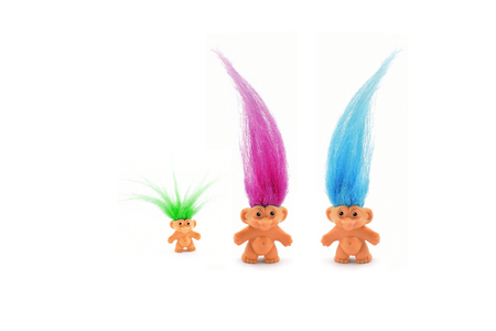 Troll family stock images. Three trolls image. Troll isolated on a white background